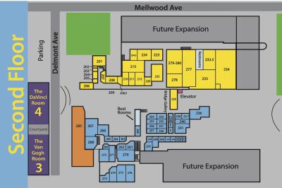 Second Floor Studio Spaces Map