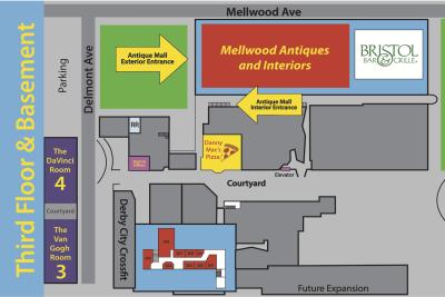 Third Floor & Basement Map
