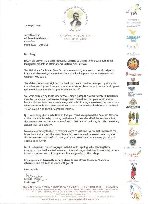Belinda's letter