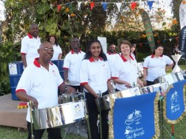 At the party for the Queen's Birthday Party at the British Embassy in Lusaka, Zambia in 2013