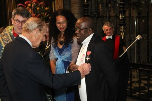 Meeting Prince Philip after the Service