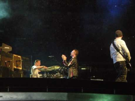 Bono Vox, Larry Mullen e The Edge - U2 360 Tour - Milano - 7