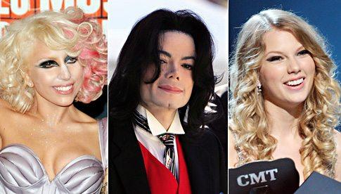 Lady GaGa - Michael Jackson - Taylor Swift