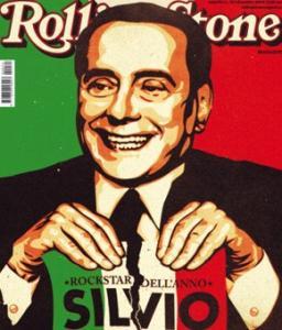 La copertina di Rolling Stone (Rockstar dell'anno) dedicata Silvio Berlusconi