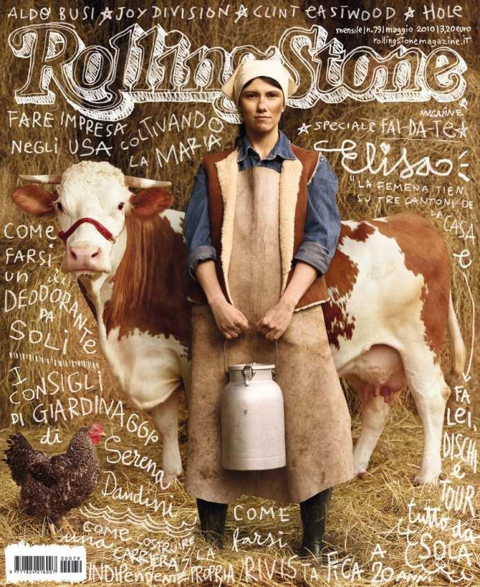 """Elisa sulla copertina di Rolling Stone in versione """"contadina"""""""