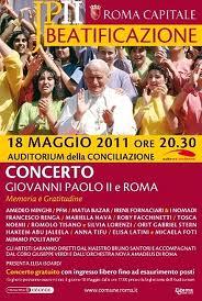Il 18 Maggio il concerto per la beatificazione di Papa Giovanni Paolo II