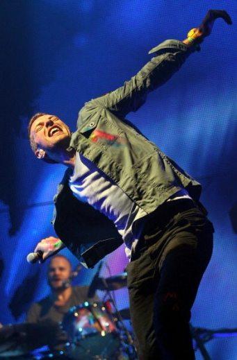 Chris Martin at Glastonbury Festival 2011