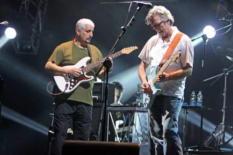 Concerto Pino Daniele ed Eric Clapton, foto e video