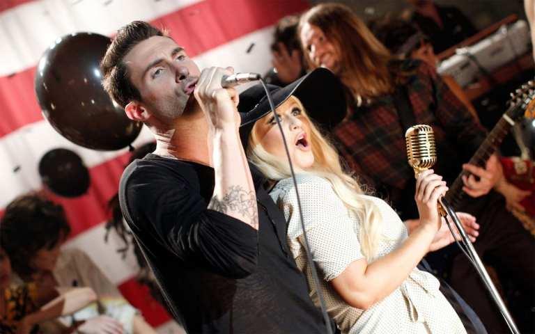 Maroon 5 Ft Christina Aguilera primi nella classifica USA