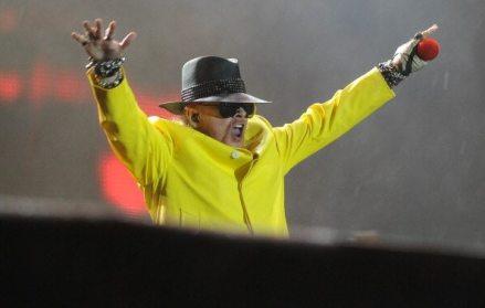 Axel Rose sul palco del Rock in Rio
