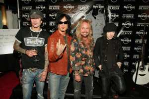 Motley Crue Performs At Hard Rock Cafe