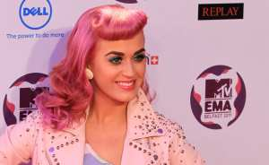 US singer-songerwriter Katy Perry poses
