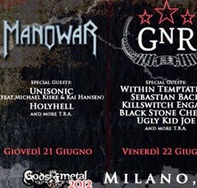 I Manowar aprono il Gods of Metal. Attesa per i Guns N' Roses