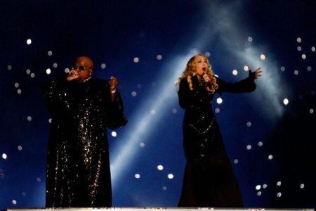 Madonna e Cee Lo Green sul palco | © Rob Carr/Getty Images)