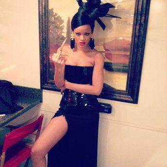 Rihanna sul set | Pagina Twitter