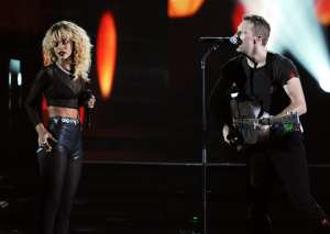 Rihanna e Chris Martin