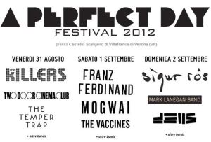 A Perfect Day 2012 - Il cartellone