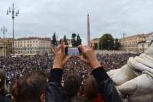 30mila persone in Piazza del Popolo