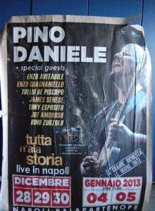 """Pino Daniele """"Tutta n'ata Storia"""" Live in Napoli - Manifesto - © A.Moraca"""