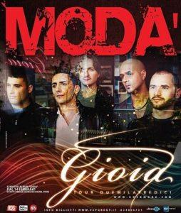"Locandina ""Gioia Tour 2013"" Modà"