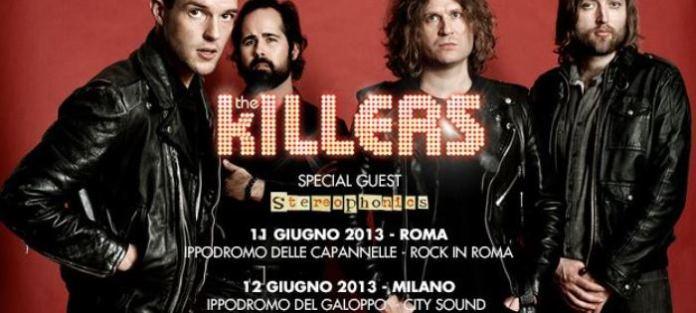 Stereophonics in concerto assieme ai The Killers a Roma e Milano