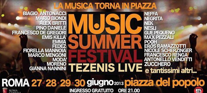 Music Summer Festival 2013, al via l'evento che accompagnerà l'estate