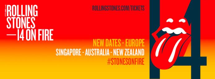 Rolling Stones, le prime due date europee del 14 On Fire Tour