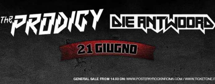 """I Prodigy al """"Rock In Roma"""" con i Die Antwoord"""