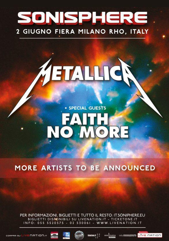 Metallica e Faith No More al Sonisphere Festival