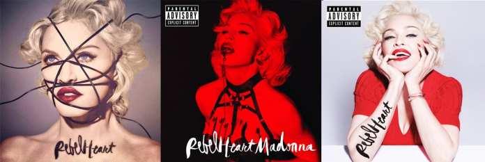 Uscite Discografiche Marzo 2015 - Madonna - Rebel Heart © artwork