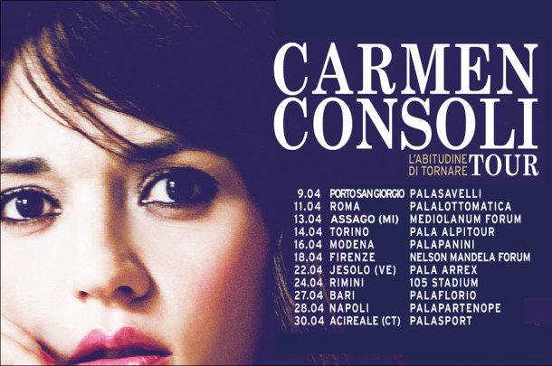 Carmen Consoli: al via il tour tra grinta ed energia al femminile