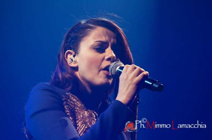"Italian Singer Annalisa performs live at Teatro Toniolo in mestre in ""Splende Tour"""