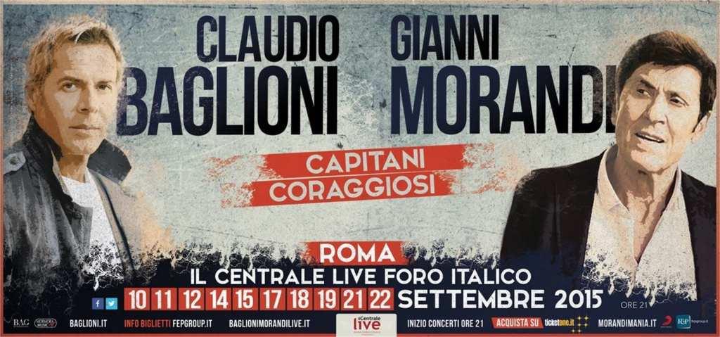 "Gianni Morandi e Claudio Baglioni i due ""Capitani Coraggiosi"""