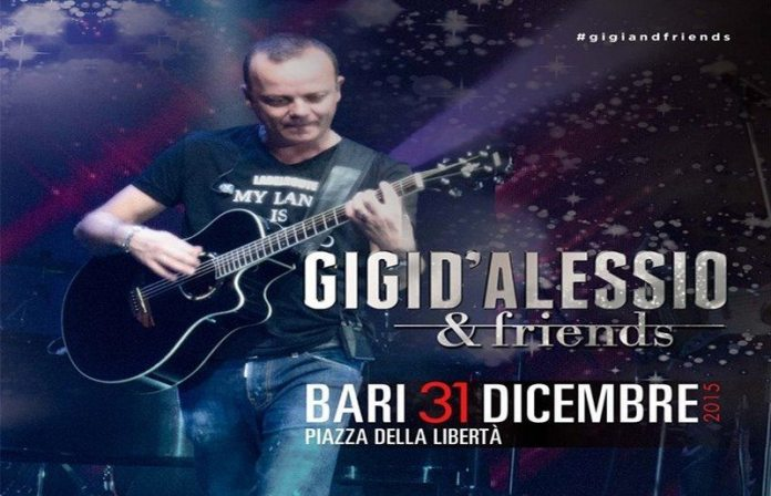 Concerto di Capodanno in piazza a Bari con Gigi D'Alessio