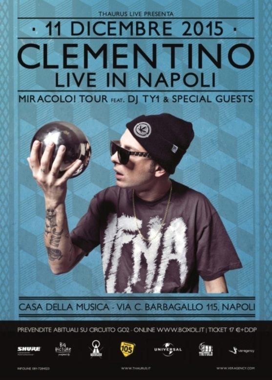 Clementino live a Napoli l'11 Dicembre