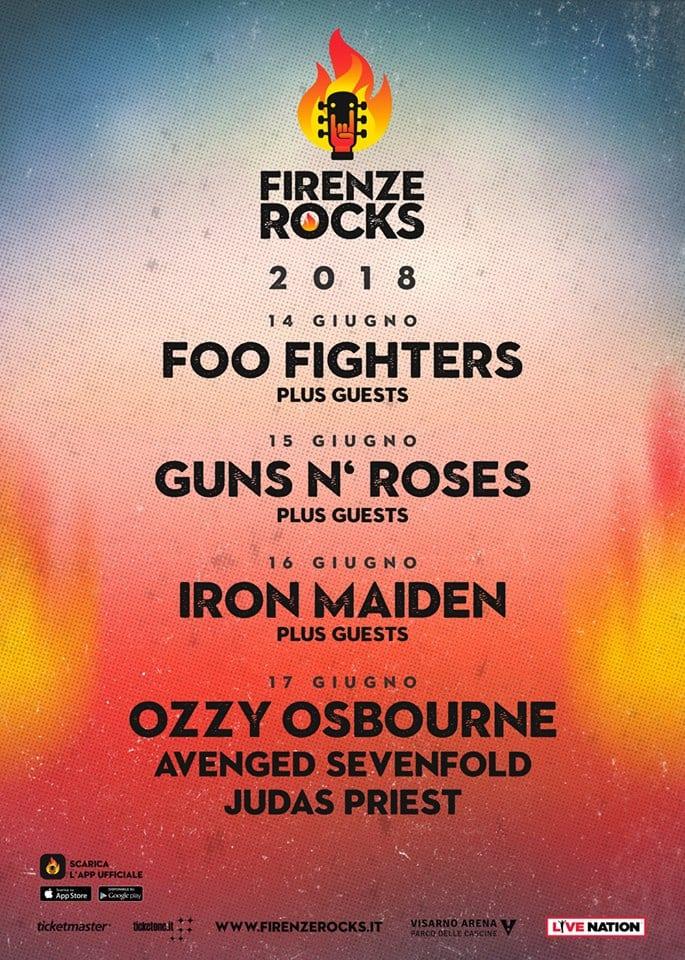 Firenze Rocks 2018: Foo Fighters, Iron Maiden, Ozzy Osbourne completano la line up
