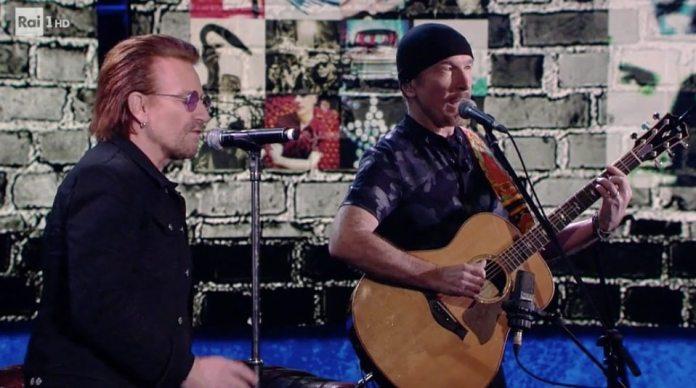 Bono e The Edge tra musica e politica, si raccontano da Fabio Fazio
