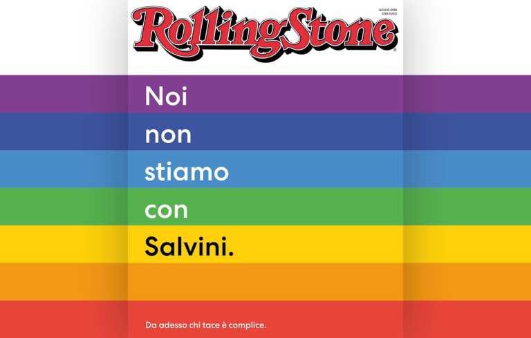 Rolling Stone si schiera contro Salvini, polemica sulle adesioni
