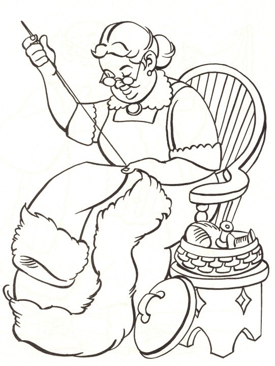 needle sewing coloring pages