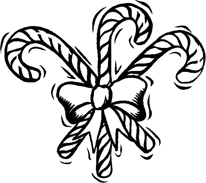 Three Candy Canes with a Bow