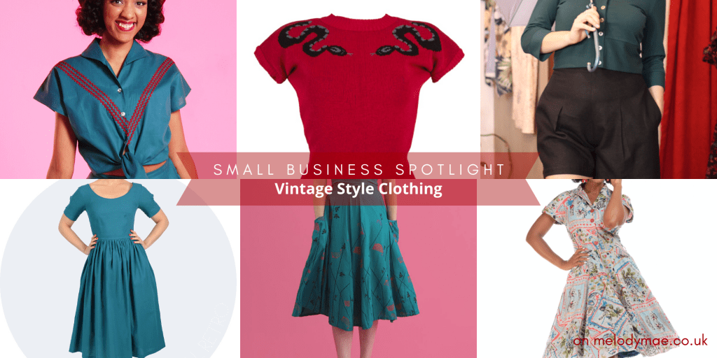 small brand spotlight -- vintage style clothing