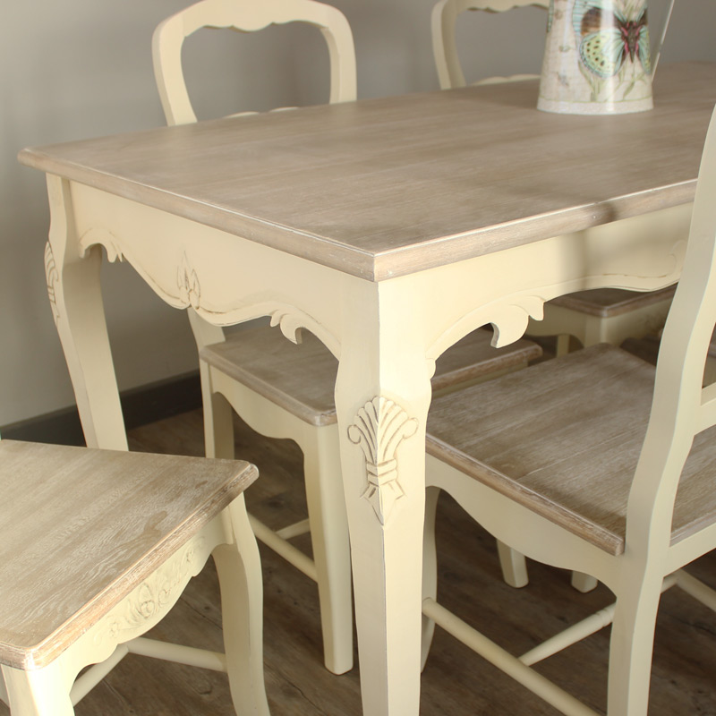 Set Of 4 Country Cream Dining Chairs Country Ash Range