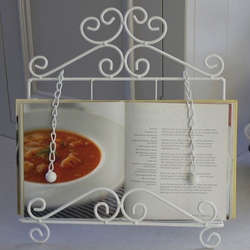 Cream recipe book holder  Melody Maison