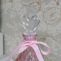 Decorative Pink Glass Perfume Bottle - Melody Maison