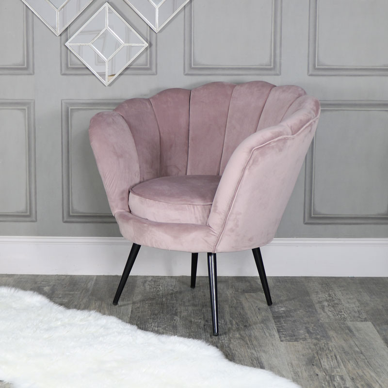 bedroom chair pink velvet white wedding covers cheap dusky melody maison