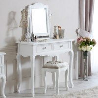 Elise White Range - Dressing Table, Mirror and Stool ...