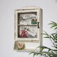 French Style Bathroom Wall Cabinet with Shelf - Melody Maison
