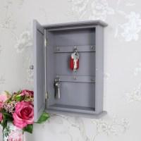 Grey Wall Mounted Wooden Key Cabinet - Melody Maison