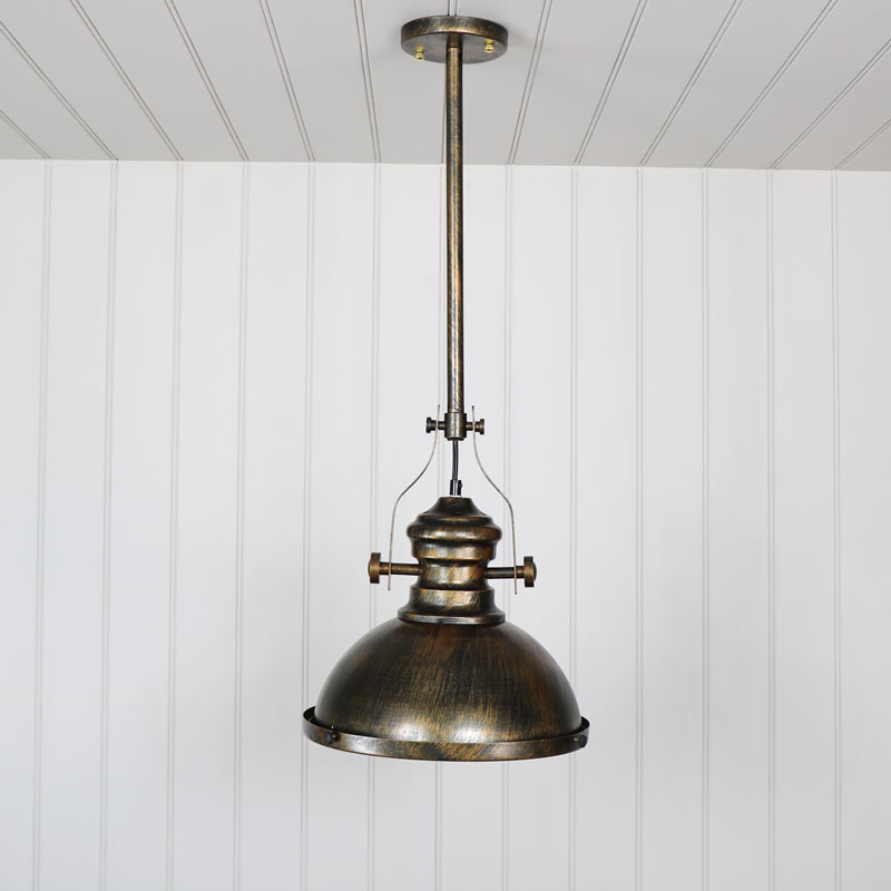 Industrial Gold Ceiling Pendant Light Fitting
