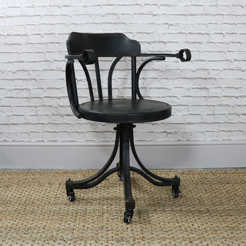 Industrial Style Swivel DeskOffice Chair  Melody Maison